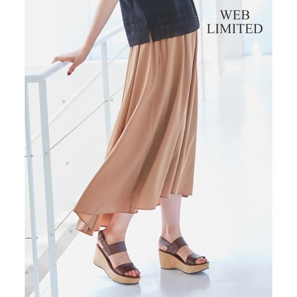 【WEB限定】STRETCH POPLIN スカート/自由区 S(JIYUKU S)