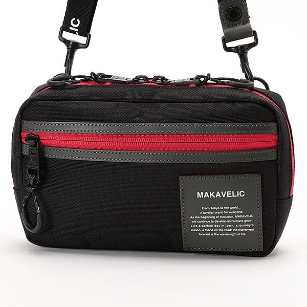 【MAKAVELIC/マキャベリック】3WAY SHOULDER POUCH HI FIVE/アドポーション(ADOPOSION)