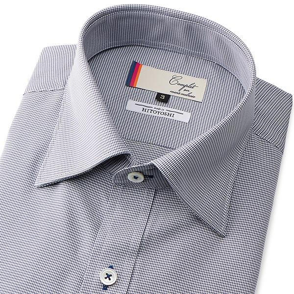 COOLMAXカラーチドリ半袖ドレスシャツ/メンズメルローズ(MEN'S MELROSE)