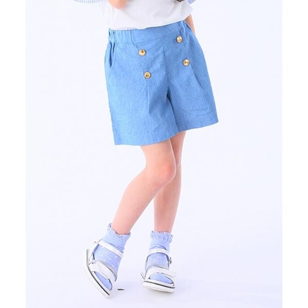 【110~140cm】シャンブレーショートパンツ/組曲 キッズ(KUMIKYOKU KIDS)