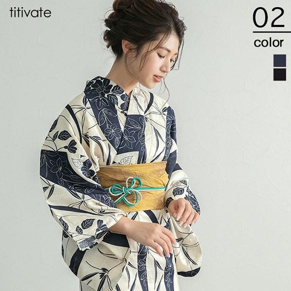 古典柄 綿麻浴衣/ティティベイト(titivate)