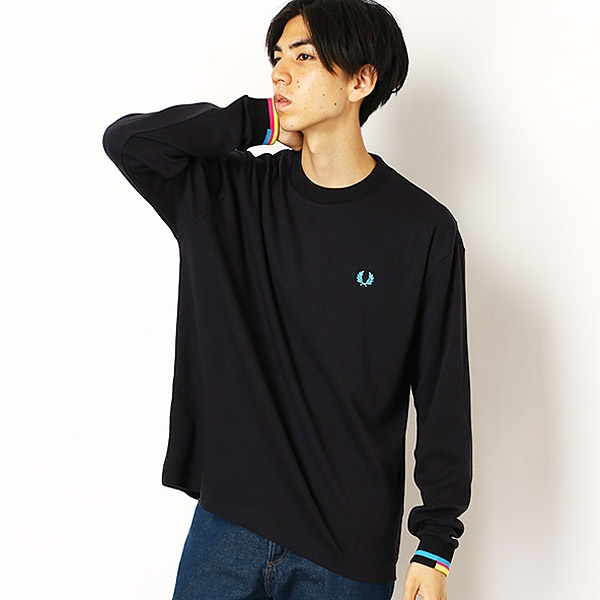 【19AW】PROCESS COLOUR LS T-SHIRT/フレッドペリー(メンズ)(FRED PERRY)