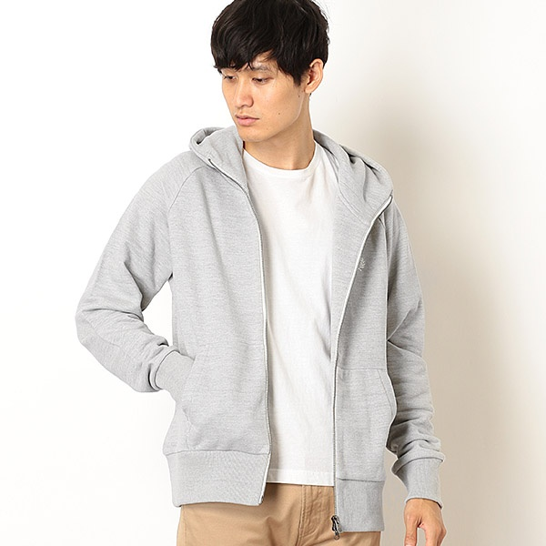 【19AW】LOOPBACK HOODED SWEAT/フレッドペリー(メンズ)(FRED PERRY)