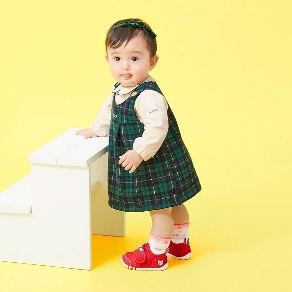 SALE スカート 誕生日プレゼント ジャンパースカート ブラックウォッチ ホットビスケッツ チェック 激安セール ミキハウス 裏毛