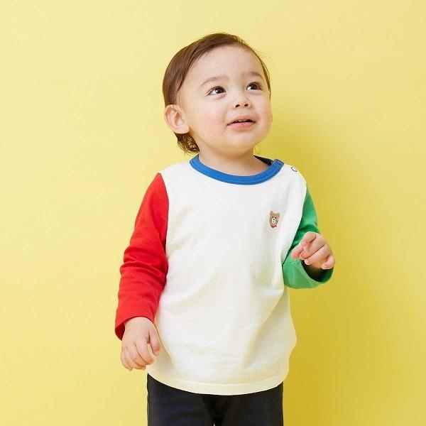 その他トップス Tシャツ 1900円 店舗 ワンポイント刺繍 ミキハウス 専門店 長袖 ホットビスケッツ