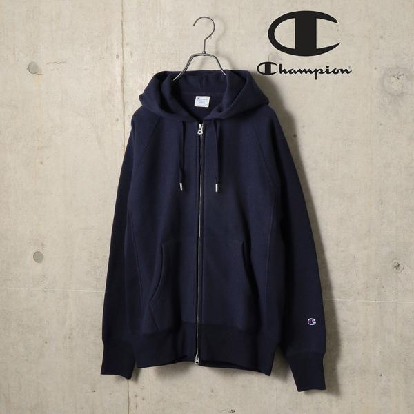 Champion×SHIPS: 別注 リバースウィーブ(R) ラグラン ジップアップ パーカー (ト/シップス(メンズ)(SHIPS)