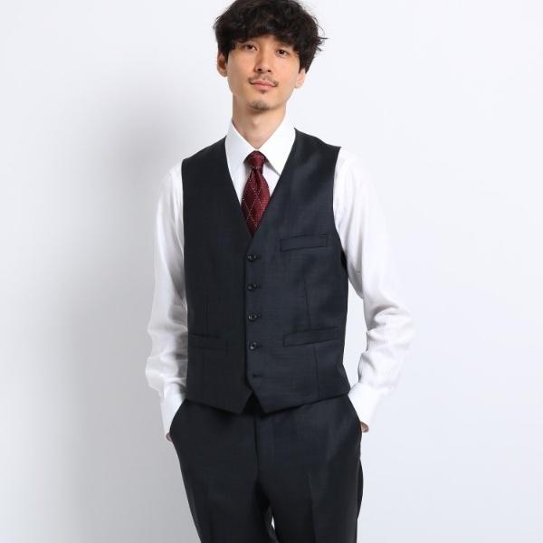 シャイニーシャークピンヘッド ベスト Fabric by MIYUKI KEORI/タケオキクチ(TAKEO KIKUCHI)
