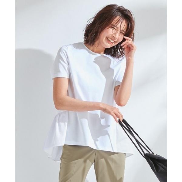 【洗える】SOFT COMPACT JERSEY ぺプラム カットソー/23区 S(NIJYUSANKU S)
