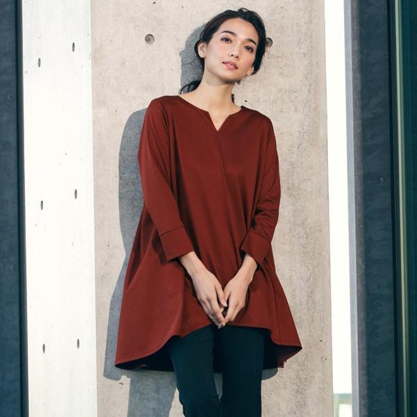 【WEB別注】Aラインチュニックカットソー/ロートレアモン(LAUTREAMONT)