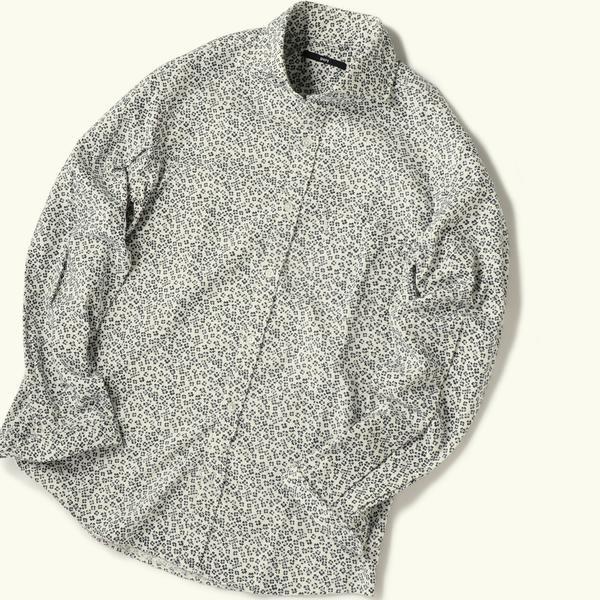 SC: フラワープリント セミワイドカラー ネルシャツ/シップス(メンズ)(SHIPS)