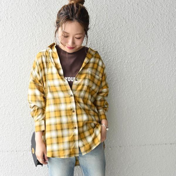 新発売 Khaju:チェックオーバーサイズシャツ/カージュ(Khaju), ベクトル プリマベーラ店 20ab1020