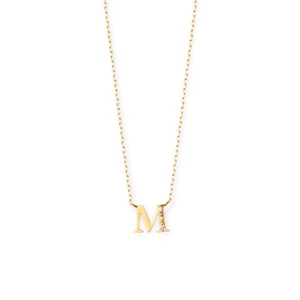 K18 イエローゴールド ダイヤモンド イニシャル ネックレス(M)/エステール(ESTELLE)
