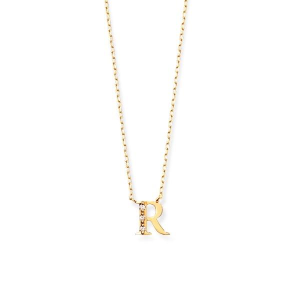 【ふるさと割】 K18 イエローゴールド ダイヤモンド イニシャル ネックレス(R)/エステール(ESTELLE), 海外電気CLUB c6b2d520