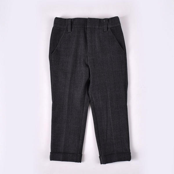 ワッペン付きデニム調パンツ(140cm~160cm)/ワスク(WASK)