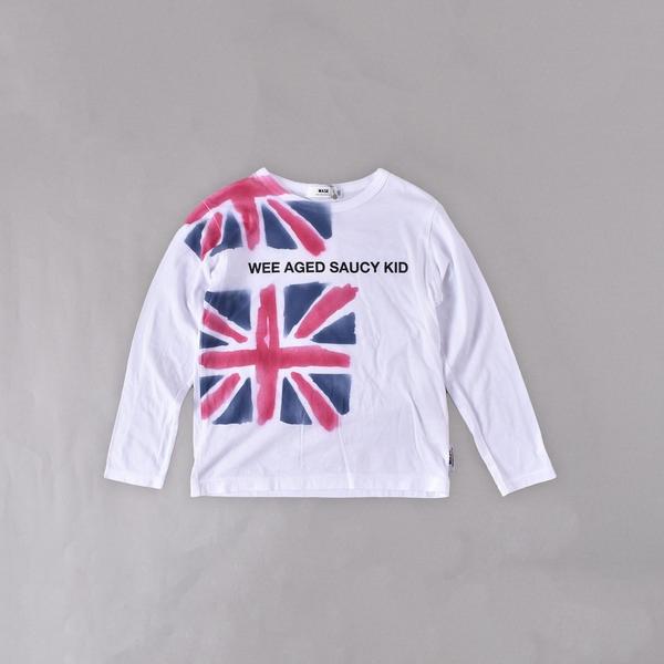 ユニオンジャックエアブラシプリントTシャツ(140cm~160cm)/ワスク(WASK)