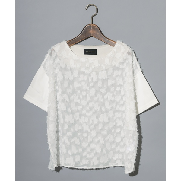 PARADIS TERRE:カットジャガードTシャツ/メルベイユアッシュ(MERVEILLE H.)
