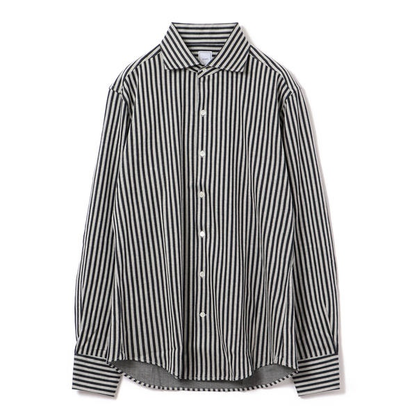 SD: 【ALBINI社製生地】 ストラップ ジャージー ワンピースカラー シャツ/シップス(メンズ)(SHIPS)