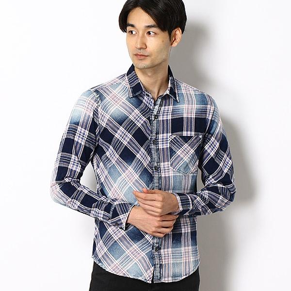 お得意のインディゴチェックを使用したアレンジシャツ/ルパート(VOGUISH/ヴォーギッシュ)