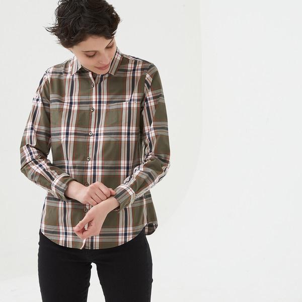 吸水速乾 長袖チェックシャツ/エーグル(AIGLE)