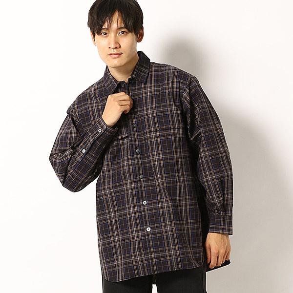 オーバータータンチェックシャツ/モルガンオム(MORGAN HOMME)