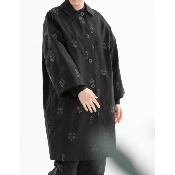 【nop de nod(ノップドゥノッド)】グログラン刺繍コート/プードゥドゥ(POU DOU DOU)