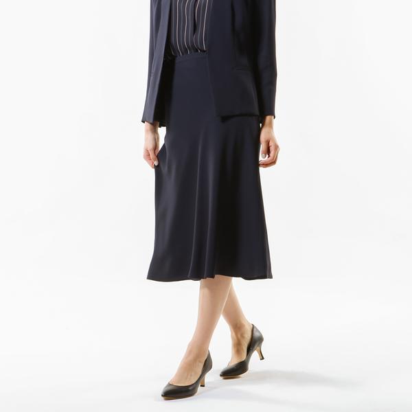 【Sサイズ~】【セットアップ対応】【美Skirt】【ウォッシャブル】バックサテンジョーゼットスカート/トランスワーク(TRANS WORK)