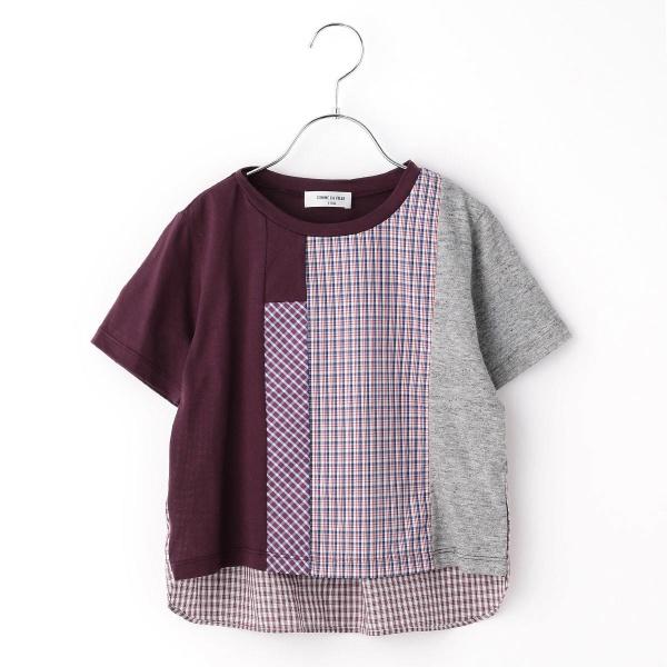 ブロッキングチェックTシャツ/コムサフィユ(COMME CA FILLE)