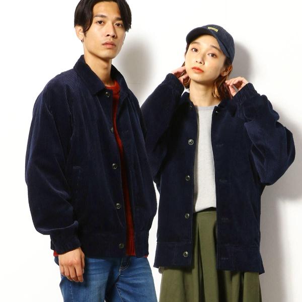 コーデュロイ ブルゾン/パープル&イエロー(Purple & Yellow)