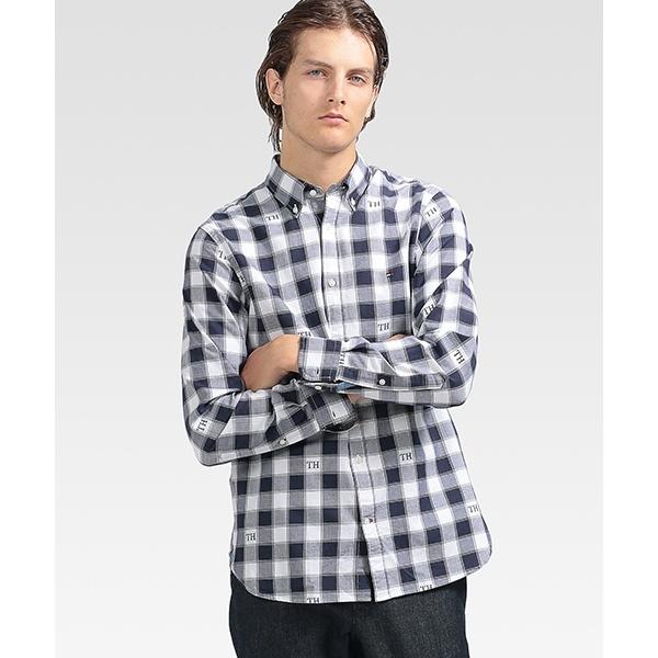 モノグラムチェックシャツ/トミーヒルフィガー(メンズ)(TOMMY)