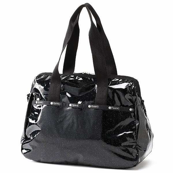 【日本限定】HARPER BAG/ブラックグリッター/レスポートサック(LeSportsac)