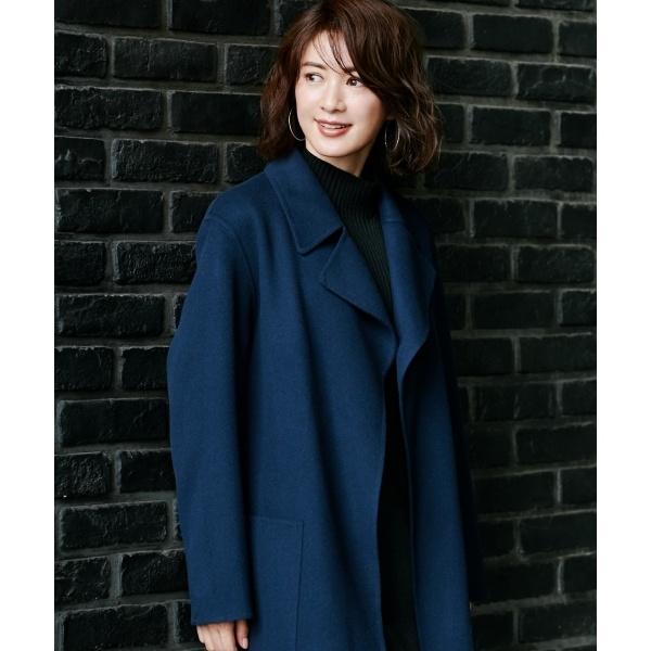 【mi-mollet掲載】Wool Rever トレンチ型コート/アイシービー(ICB)