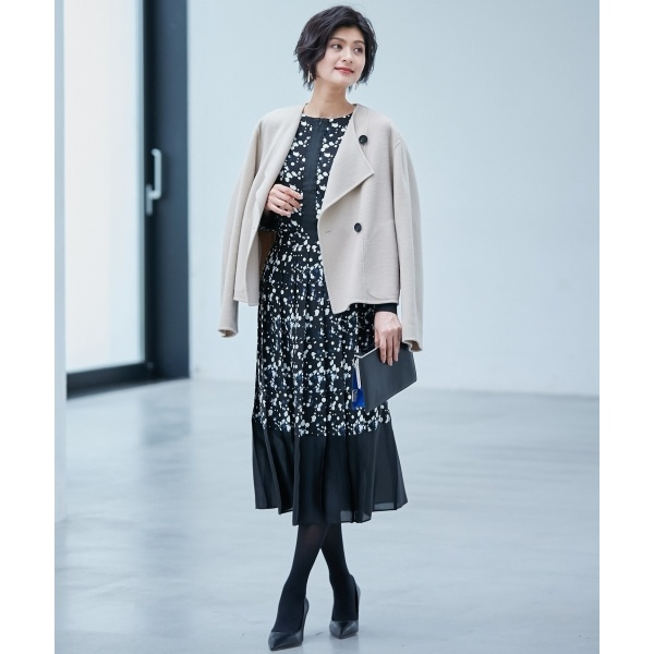 Wool Rever ショートコート/アイシービー L(ICB L)
