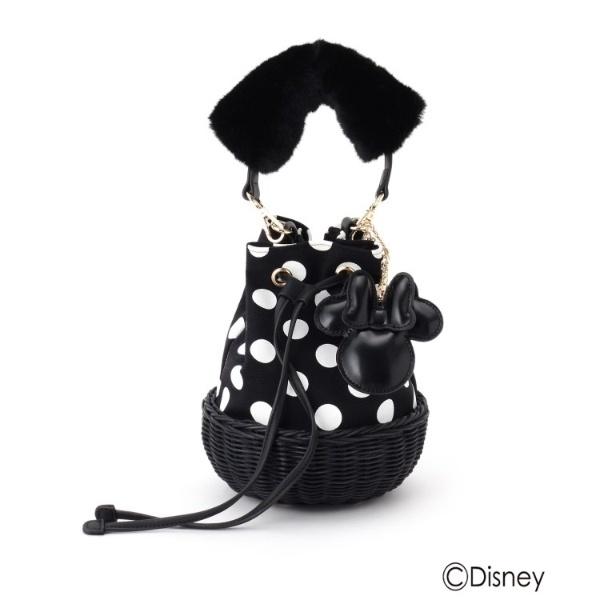 ミニーマウスフェイクファーハンドル巾着バッグ/クチュールブローチ(Couture Brooch)