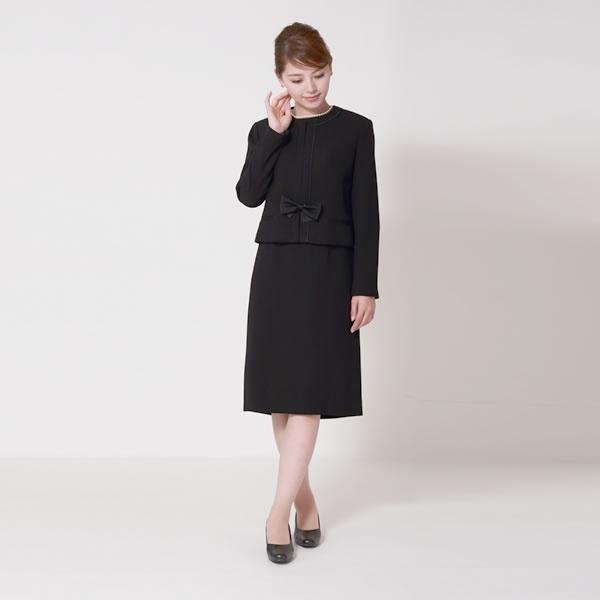 メアリーココ 【ブラックフォーマル】レディース/喪服/ノーカラー/礼服/大きいサイズ(メアリーココ)/マダムココ(MADAMECOCO)
