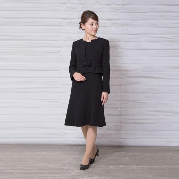 【ブラックフォーマル】レディース/喪服/ノーカラー/礼服//かわいい/大きいサイズ(メアリーココ)/マダムココ(MADAMECOCO)