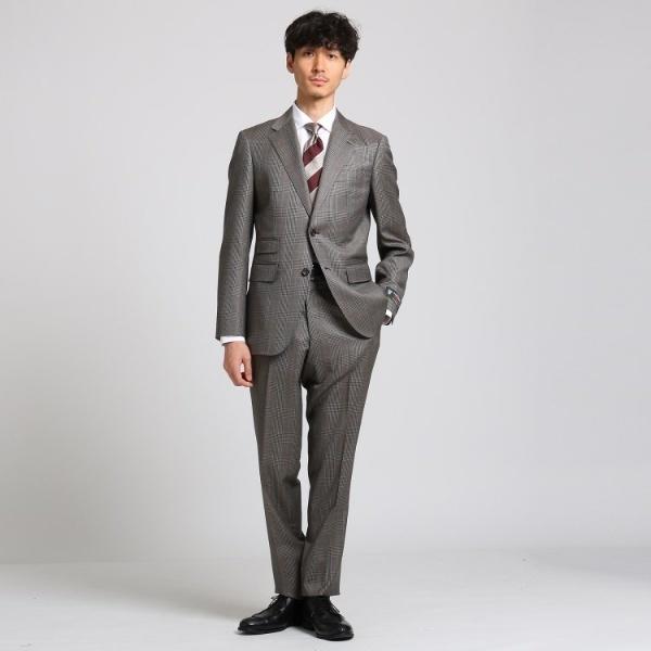 グレンチェック スーツ Fabric by DORMEUIL/タケオキクチ(TAKEO KIKUCHI)