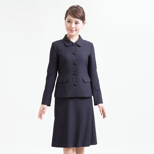 お受験スーツ/5つボタン濃紺スーツ/面接/レディース/大きいサイズ(メアリーココ)/エスコミュール(ESCOMUL)