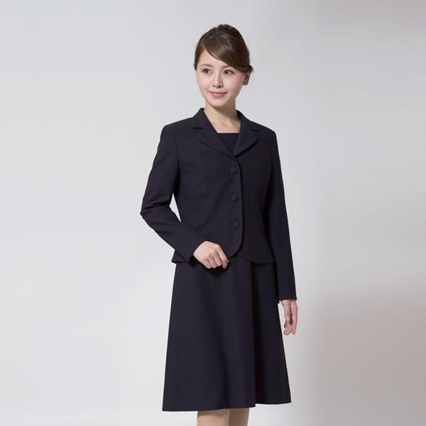 お受験スーツ/ウール混紡濃紺スーツ/面接/レディース/大きいサイズ(メアリーココ)/エスコミュール(ESCOMUL)