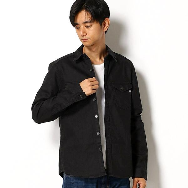 11 OZ コーテッドブラックデニム シャツジャケット/REPLAY(REPLAY)