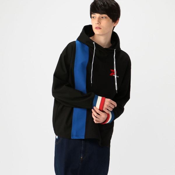 【PATRICK×FRAPBOIS】スーツ素材ドッキング パーカー/フラボア(FRAPBOIS)