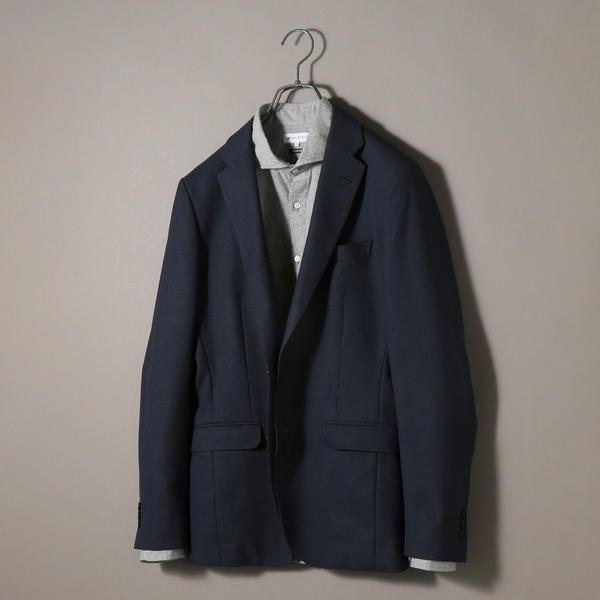 SHIPS JET BLUE: 《洗濯 可能》T/W SOLOTEX セットアップ ジャケット ネイ/シップス ジェットブルー(SHIPS JET BLUE)