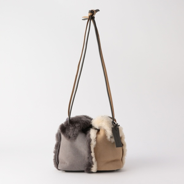 【PotioR/ポティオール】2トーンムートンミニ巾着バッグ/ノーリーズ レディース(NOLLEY'S)
