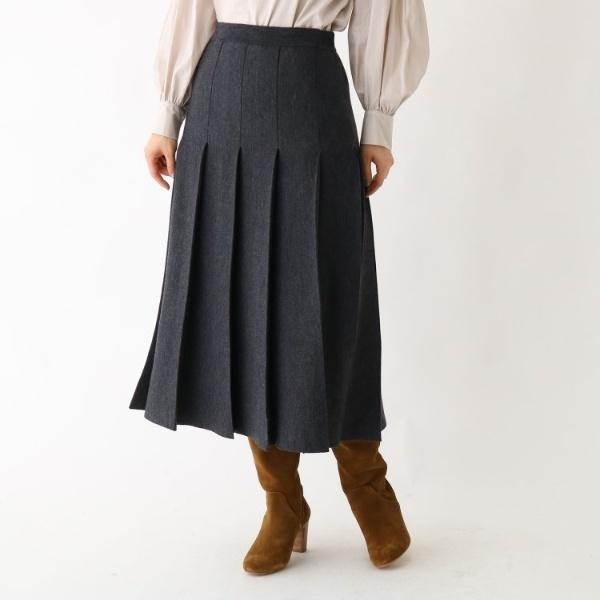 総針ニット プリーツスカート/ドレステリア(レディス)(DRESSTERIOR Ladies)