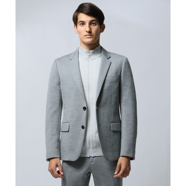 プライヤーン ヘリンボーン シングルジャケット/カルバン・クライン メン(Calvin Klein men)