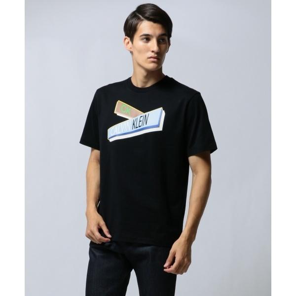 【ロゴ】ガイドサイン グラフィック Tシャツ/カルバン・クライン メン(Calvin Klein men)
