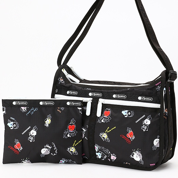 DELUXE EVERYDAY BAG/BT21 BLACK/レスポートサック(LeSportsac)