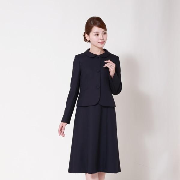 日本製お受験スーツ/ウール混紡濃紺アンサンブル/面接/レディース(メアリーココ)/エスコミュール(ESCOMUL)