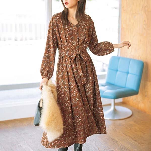 フロントボタン&タックプリントワンピース/ジーラ バイ リュリュ(ファッション)(GeeRA (fashion)):丸井(マルイ)店