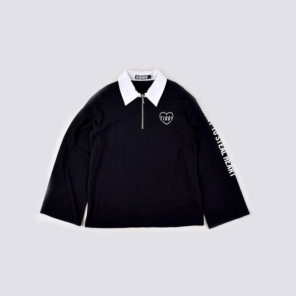 【ニコプチ掲載】ラガーシャツ風Tシャツ/ジディ(ZIDDY)