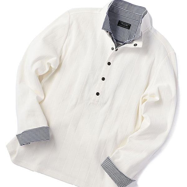 フェイクレイヤード シャドーストライプポロシャツ/メンズビギ(MEN'S BIGI)